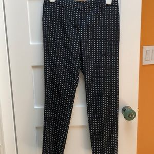 Theory check ankle pants